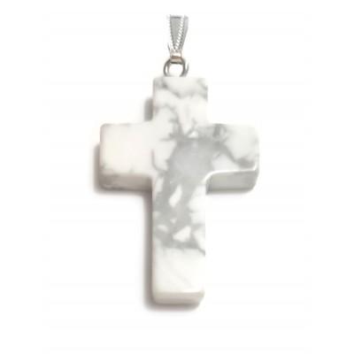 Подвеска крест из говлита