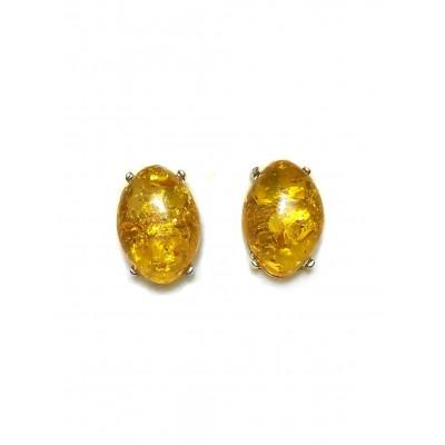 Серьги из желтого бернита (имитация янтаря)