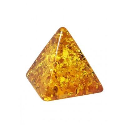 Пирамида из бернита (стилизация под янтарь)