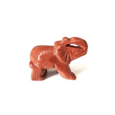 Слон из авантюрина (синтетического)