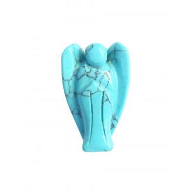 Ангел из говлита (стилизация под бирюзу)