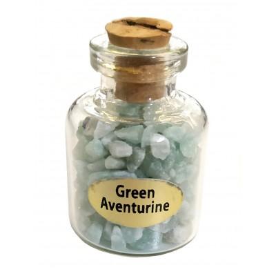 Бутылочка с зеленым авантюрином