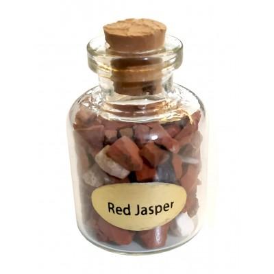 Бутылочка с красной яшмой