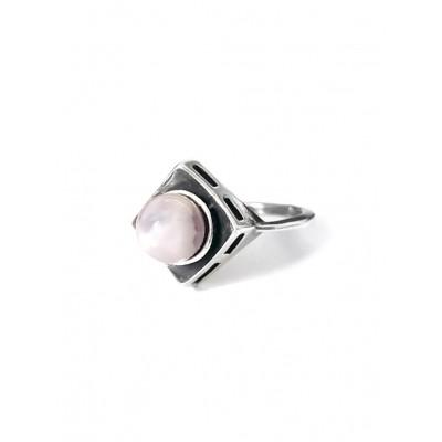 Кольцо посеребренное с аметистом
