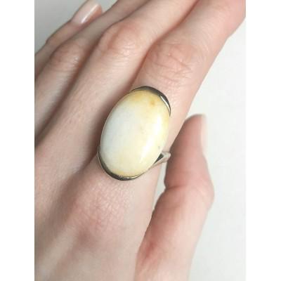 Кольцо с жёлтой яшмой