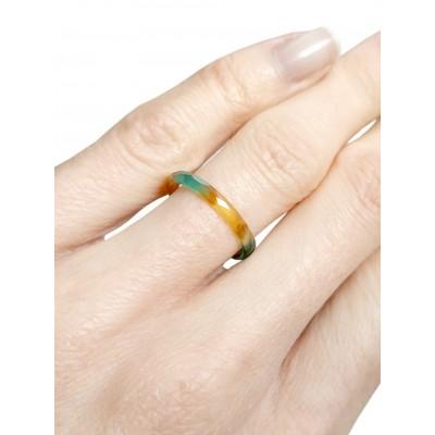 Кольцо из сердолика и агата без оправы