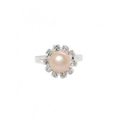 Кольцо с персиковым жемчугом
