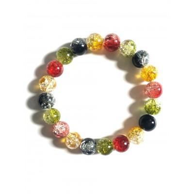 Браслет из разноцветного кварца (синтетического)