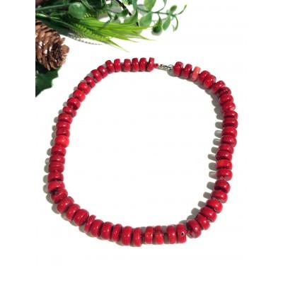 Бусы из крупного красного коралла