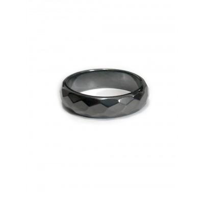 Кольцо мужское/женское из гематита без оправы