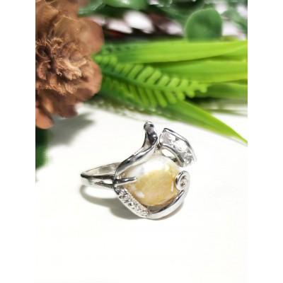 Кольцо с золотистым барочным жемчугом (Барокко)