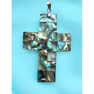 Подвеска крест из халиотиса/галиотиса (перламутра)