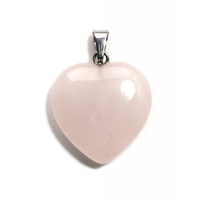 Подвеска сердечко из розового кварца