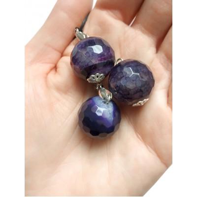 Подвеска шарик из фиолетового агата