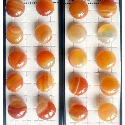 Серьги посеребренные с сардониксом (сердоликом)